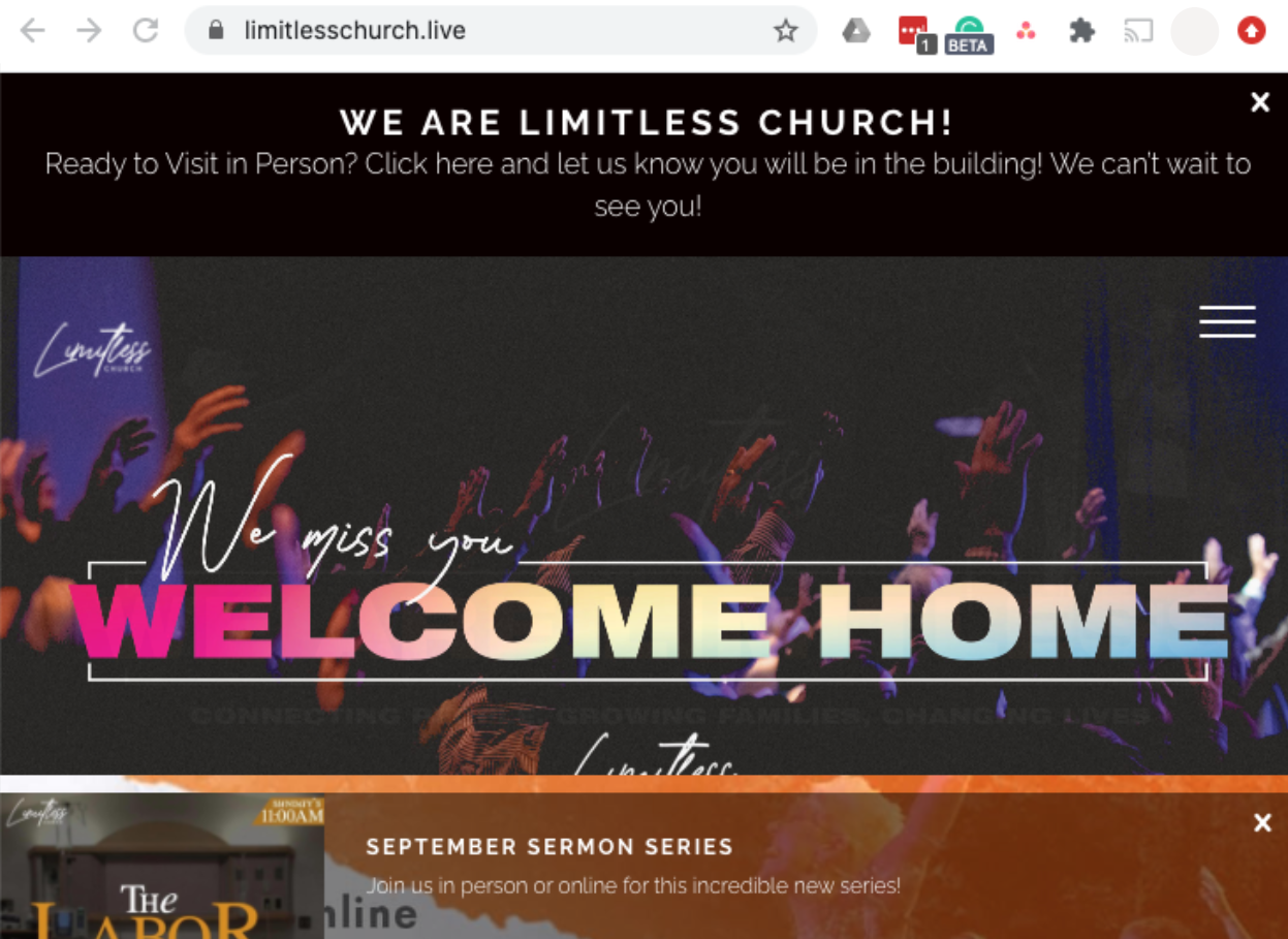 limitlesschurch.live website