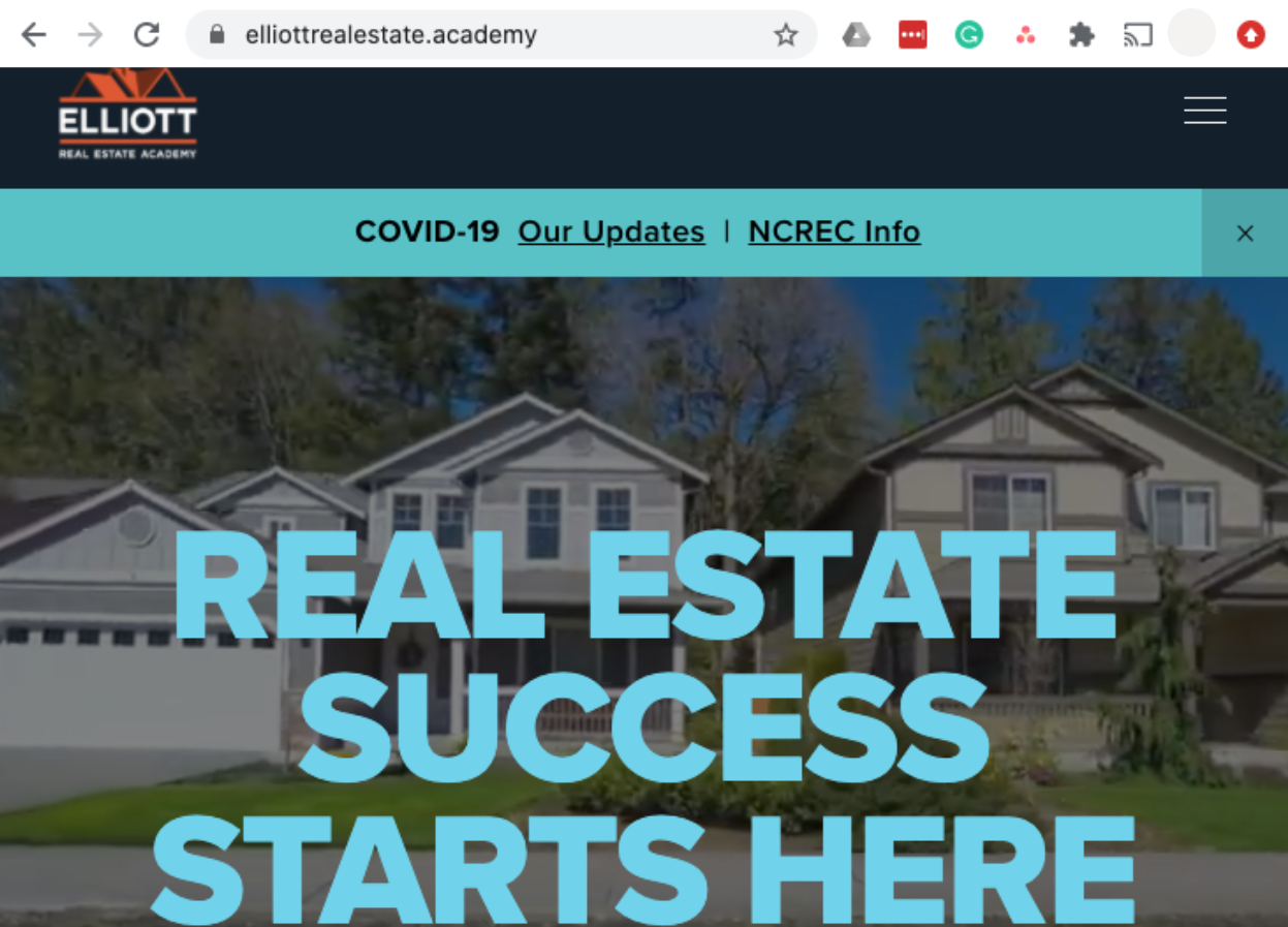 elliottrealestate.academy website