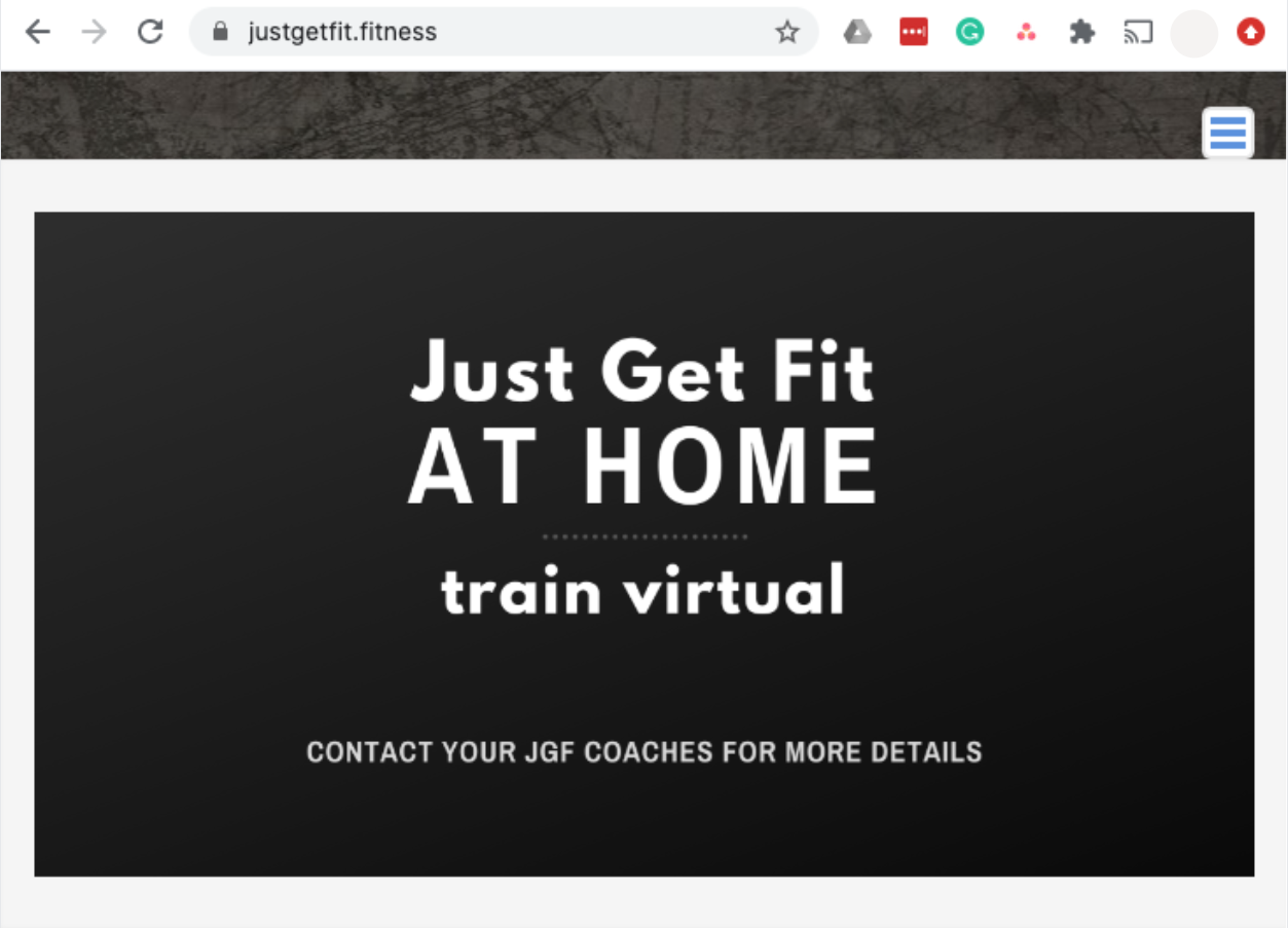 justgetfit.fitness website