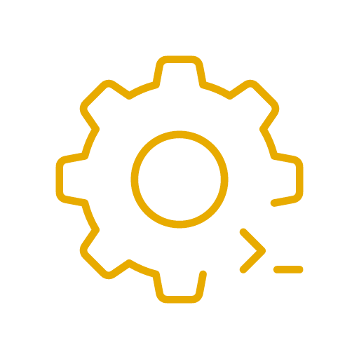 customizable solution icon yellow